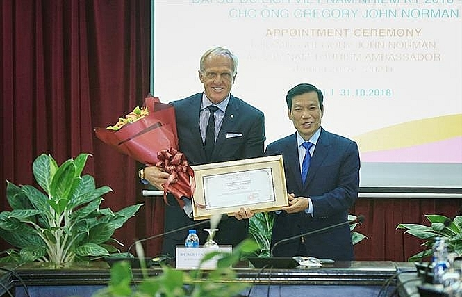 legendary golfer appointed ambassador for vietnamese tourism