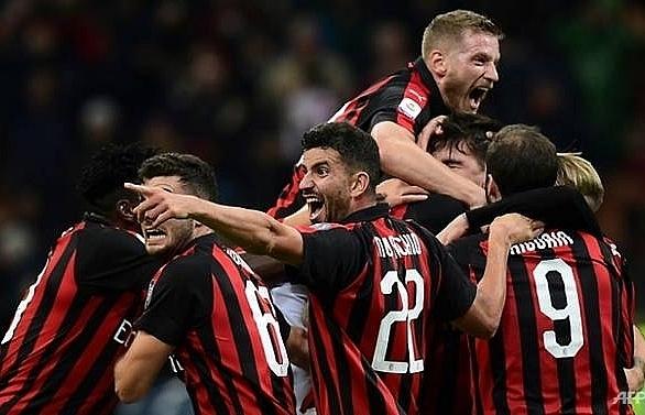 romagnoli puts ac milan ahead of lazio in champions league spot