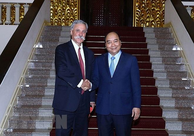 prime minister meets formula one group leader