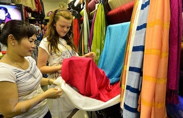 handicraft festival opens in hanois silk village