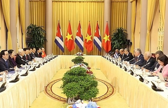 leaders agree to raise vietnam cuba trade to 500m