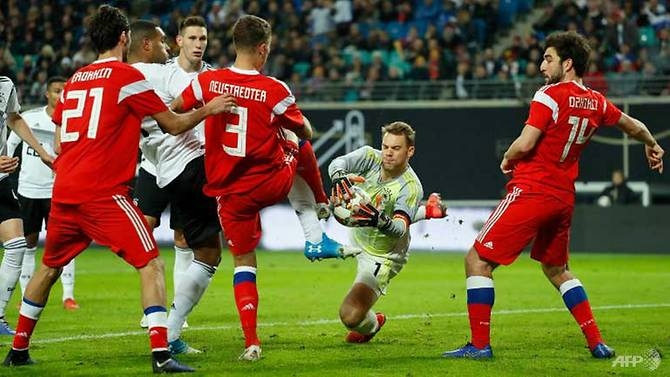new look germany ease past russia in friendly
