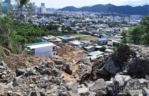 nha trang landslide involved construction project suspended