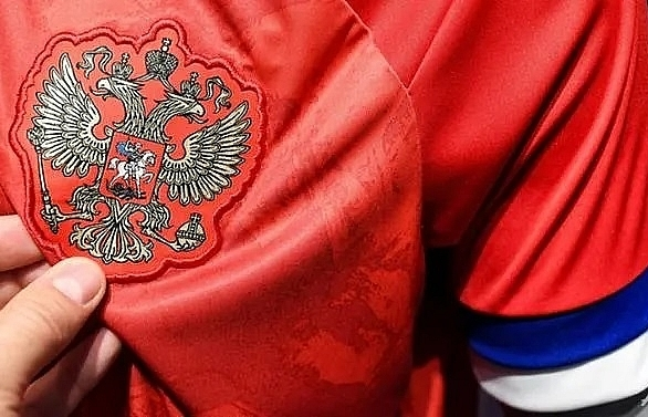 russia snub new adidas shirts with upside down flag