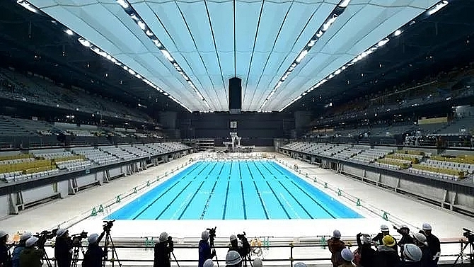 tokyo 2020 unveils 15000 seat olympic aquatics centre