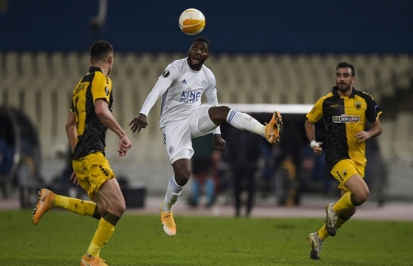 leicester power into second place fulham earn first win