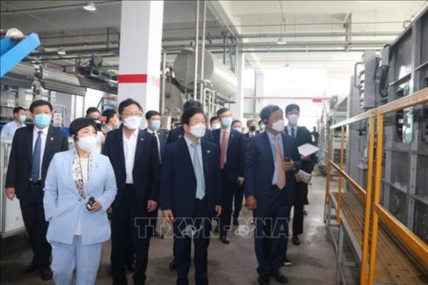 rok delegation visits companies in dong nai
