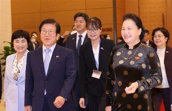 korean top legislator wraps up visit to vietnam