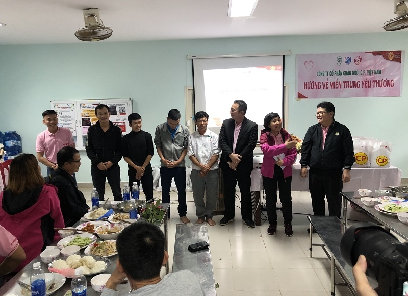 cp vietnam continues charity in central vietnam