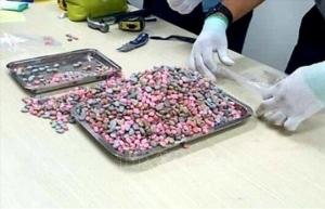 over 20 kilogrammes of drugs found inside fast delivery parcels
