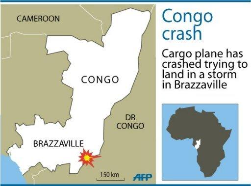 cargo plane crashes in congo around 30 dead