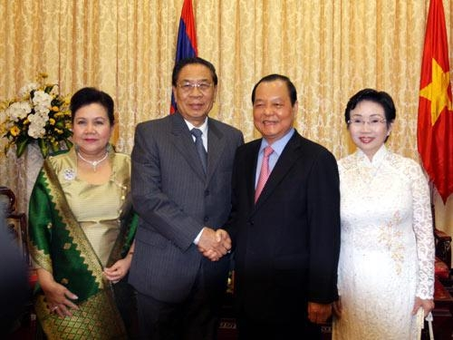 lao leader visits ho chi minh city