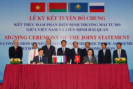 Vietnam, Customs Union wrap up FTA negotiations
