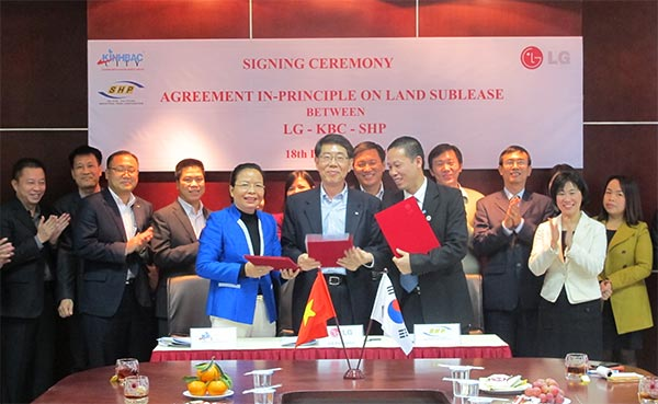 lg electronics leases more land in trang due ip