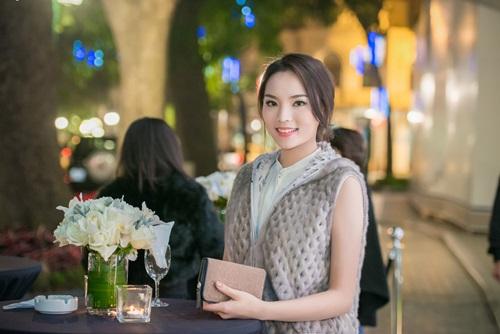 miss vietnam ky duyen attends hanoi fashion event