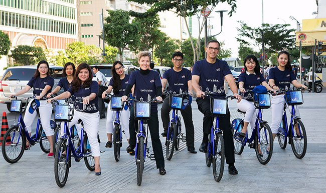 Citi Vietnam promotes healthy lifestyle and environment protection