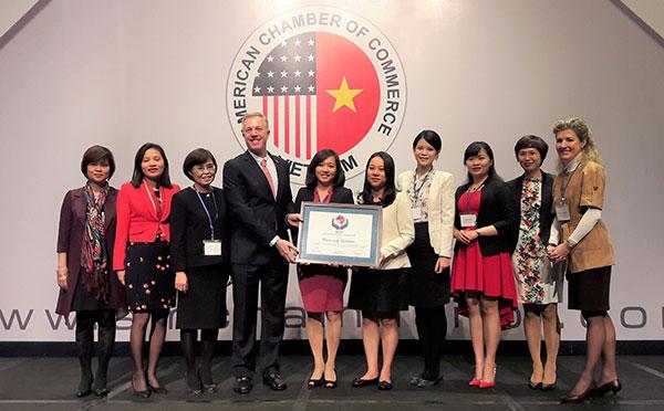 microsoft vietnam honoured for community dedication by amcham
