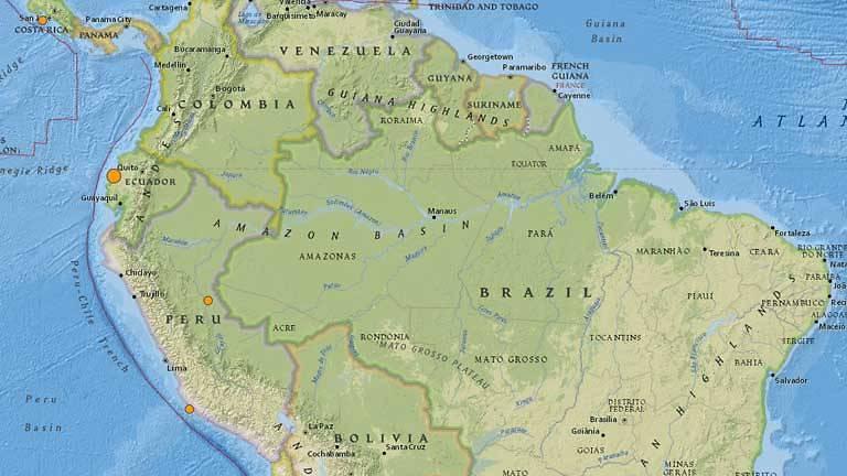60 magnitude quake causes light damage power outages in ecuador