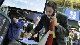 Dow, S&P 500 end at records as banking shares gain