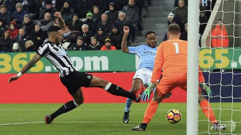 sterling sparkles as manchester city claim 18th successive win