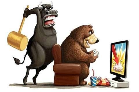 shares down on falling oil stocks