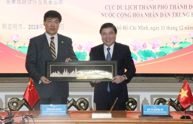 hcm city chinas chengdu boost trade tourism links