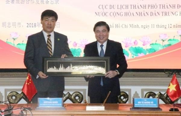 hcm city chinas chengdu boost trade tourism links