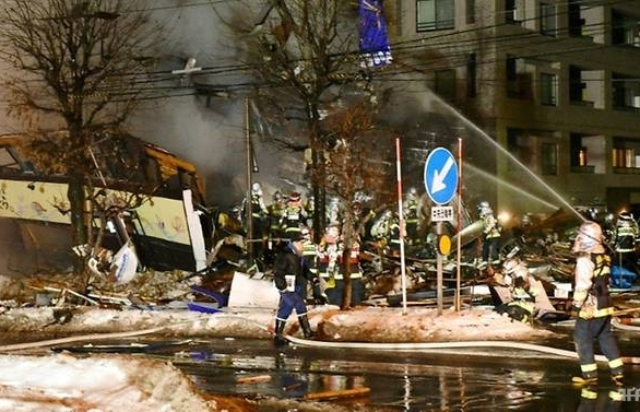 explosion at japan restaurant injures 42 causes several buildings to collapse