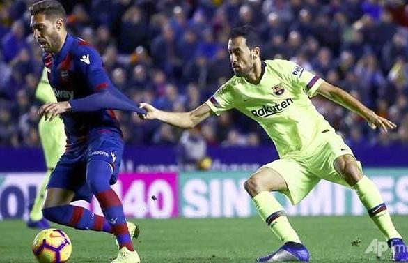 messi hat trick restores barcelonas la liga lead