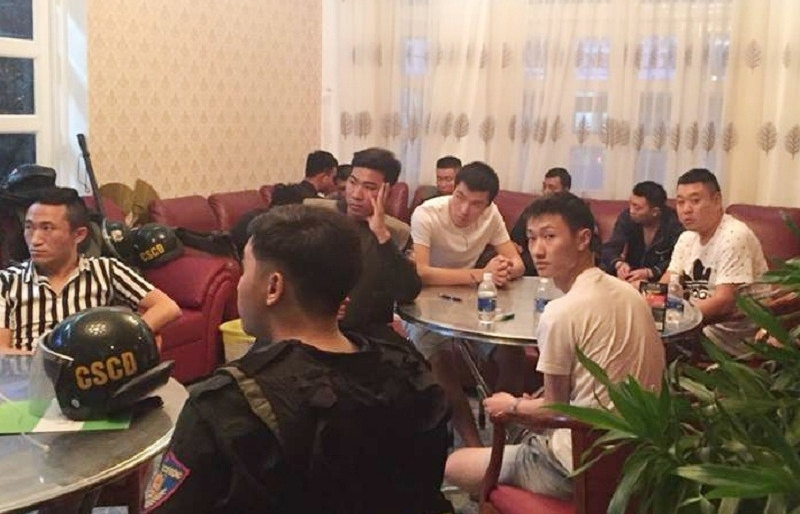 22 chinese detained for allegedly organising gambling in vung tau