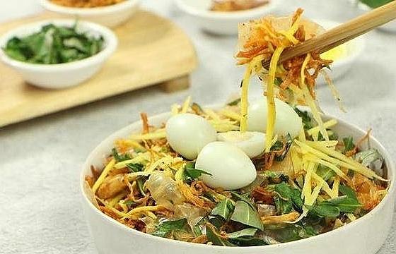 rice paper salad a popular street food in vietnam
