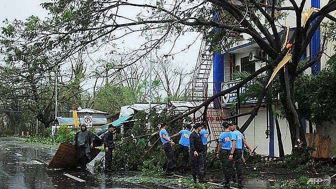 one killed as typhoon kammuri pounds philippines forces manila airport closure