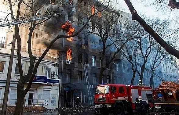 14 missing in deadly ukraine fire president