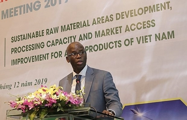 meeting talks sustainable development of agricultural material areas