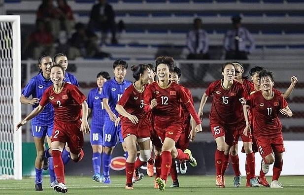sea games 30 vietnams female football team wins gold medal