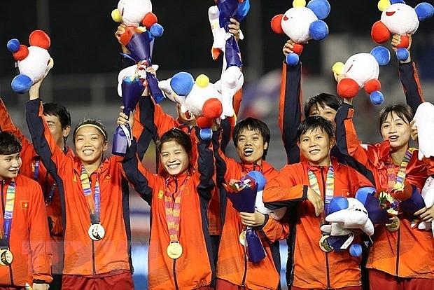 pm congratulates womens football team on sea games success