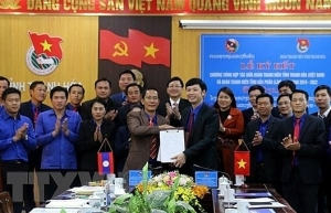 thanh hoa lao province promote youth cooperation