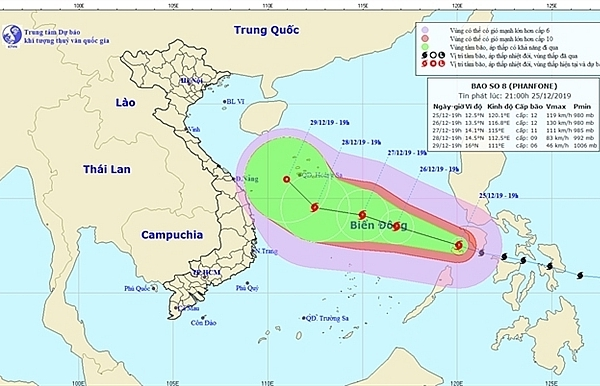typhoon phanfone enters east sea