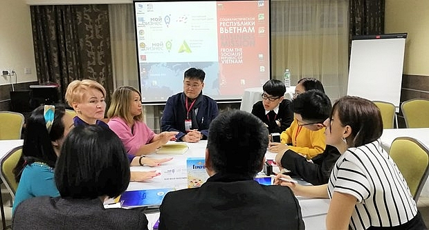vietnamese businesses join trade promotion event in russia