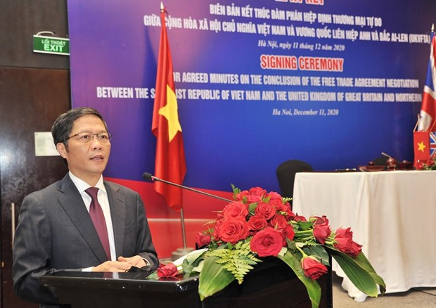 vietnam uk issue joint statement concluding free trade negotiations