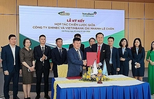 shinec signs strategic partnership with gom dat viet and vietinbank le chan branch