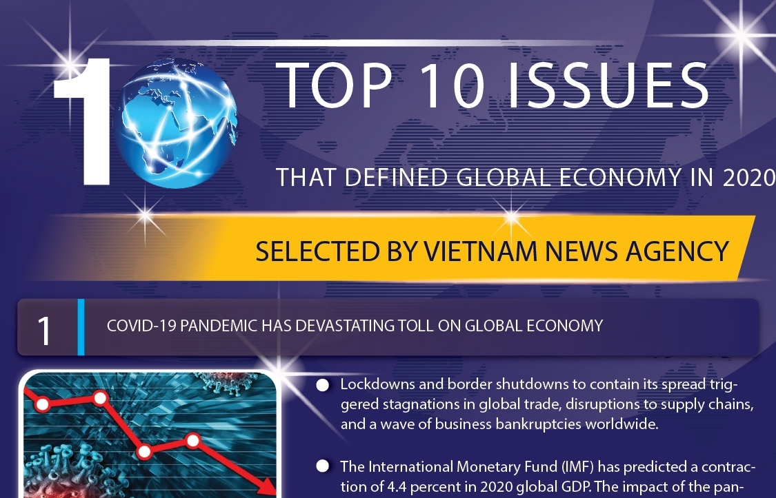 top 10 issues that defined the global economy in 2020 infographics