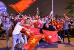 A sea of people pour in the streets after the victory of U23 Vietnam
