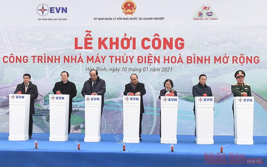 construction of expanded hoa binh hydropower plant kicks off