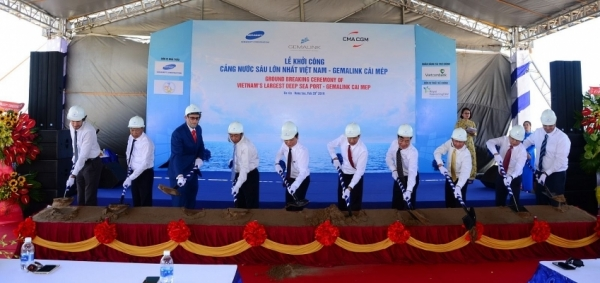 gemadept resumes construction of vietnams largest deep water port