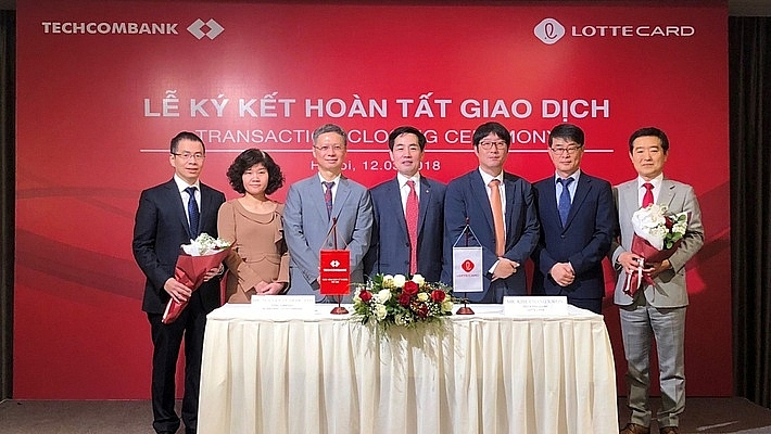 lotte card wholly acquires techcom finance