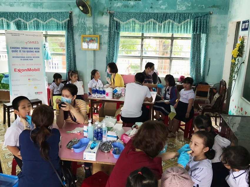 exxonmobil continues supporting childrens healthcare in central vietnam