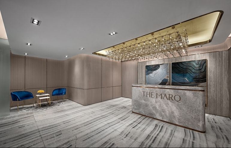 hongkong land unveils the marqs sales gallery show suites