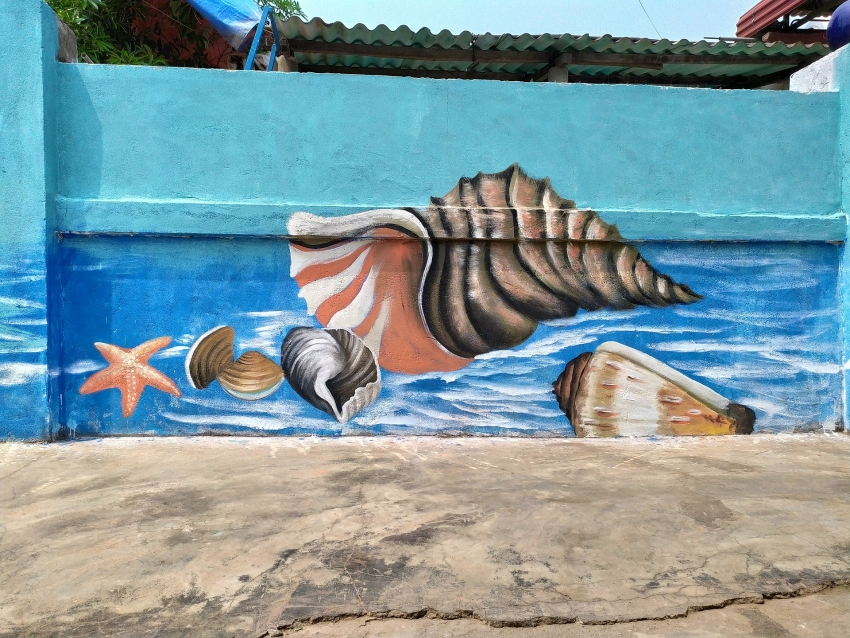 the mural project in canh duong village accomplished with sponsorship from akzonobel