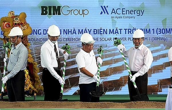 bim signs for largest solar plant in southeast asia